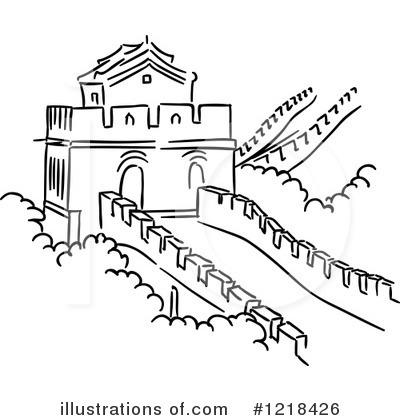 Great Wall Of China clipart The Great Wall Of China Drawing Steps By China Free Illustration (RF)