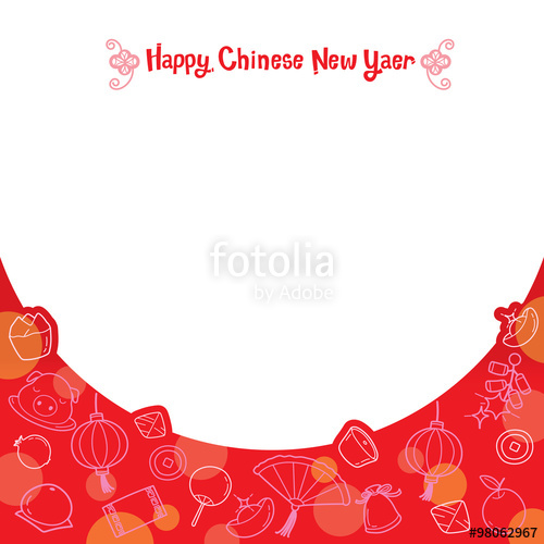 China clipart chinese frame Traditional Chinese New Year New