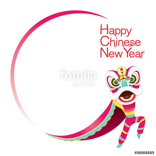 China clipart chinese frame Celebration Boy With Lion Year