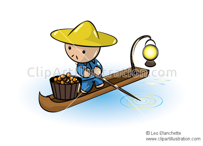Asians clipart parasol River Traversing Traversing over of