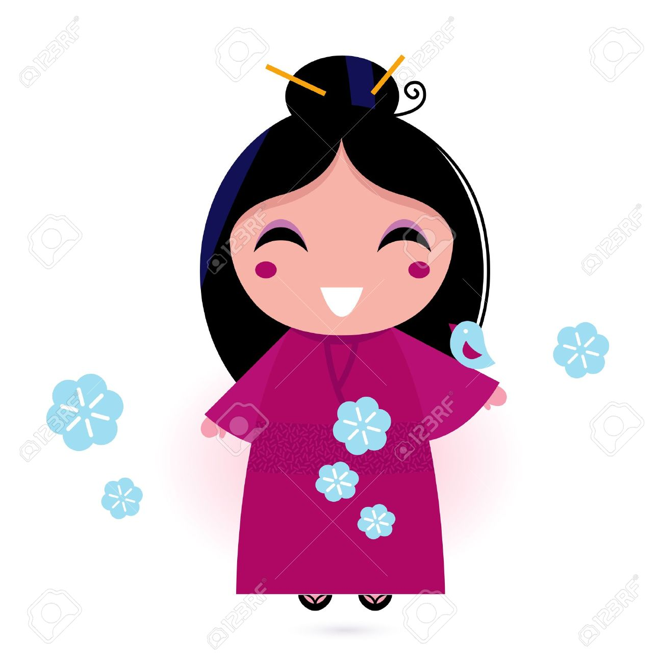 Anime clipart japan Characters girl of asian characters