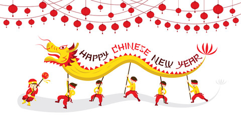 China Town clipart chinese pagoda Dragon year
