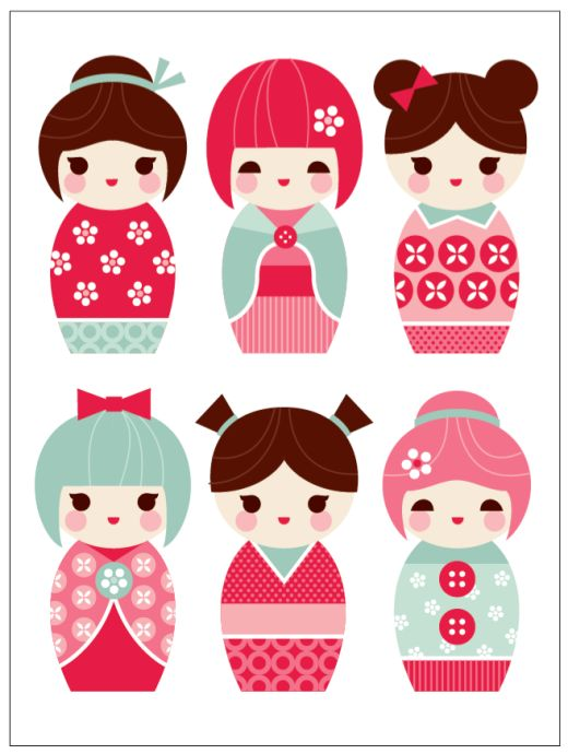 China Doll clipart Think images versions are Japanese