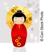 China Doll clipart Kokeshi China and Kokeshi doll