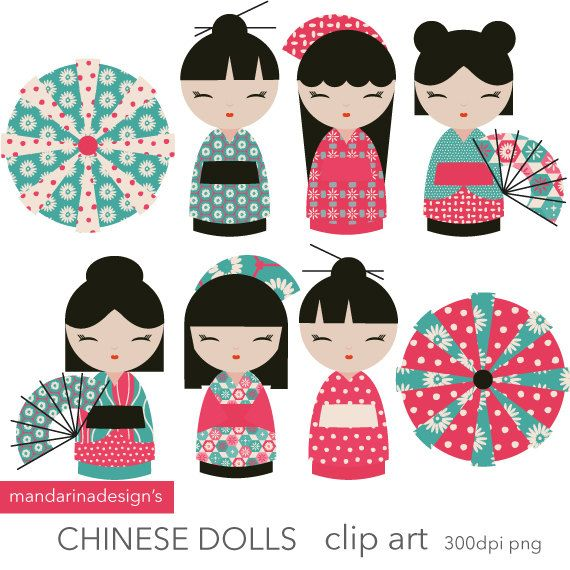 Geisha clipart black and white Best dolls 25+ paper scrapbooking