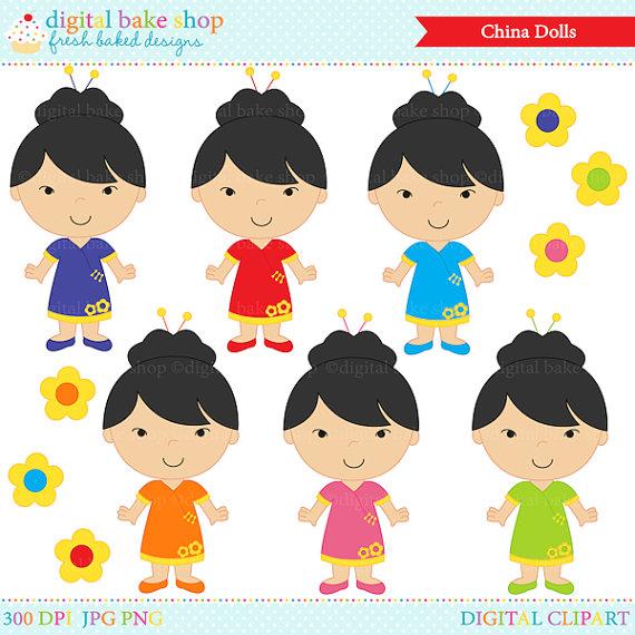 China Doll clipart Art chinese chinese  girls