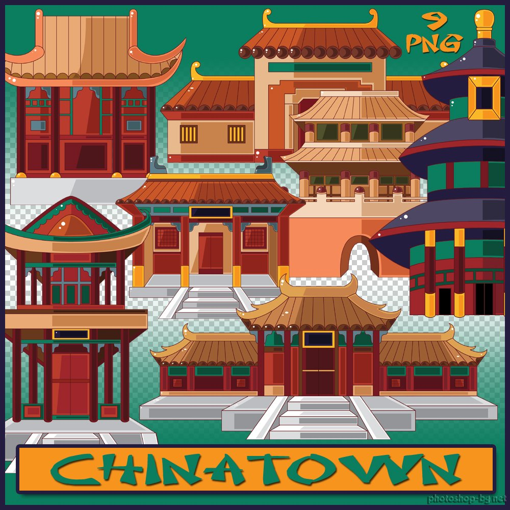 China Town clipart chinese pagoda Clipart Chinatown Photoshop Tools »