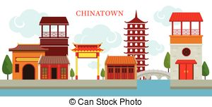 China Town clipart chinese pagoda Travel Chinatown  Building Traditional