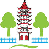 China Town clipart chinese pagoda Skyline town China Town Vector