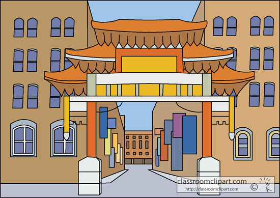 China Town clipart cartoon  clipart Chinatown