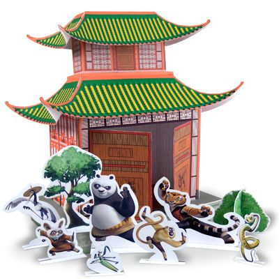 China Town clipart chinese pagoda Chinese for 79 colorful diorama