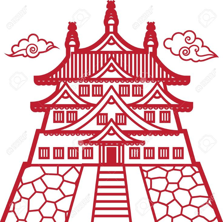 China Town clipart chinese pagoda Chinese images draw Google Search
