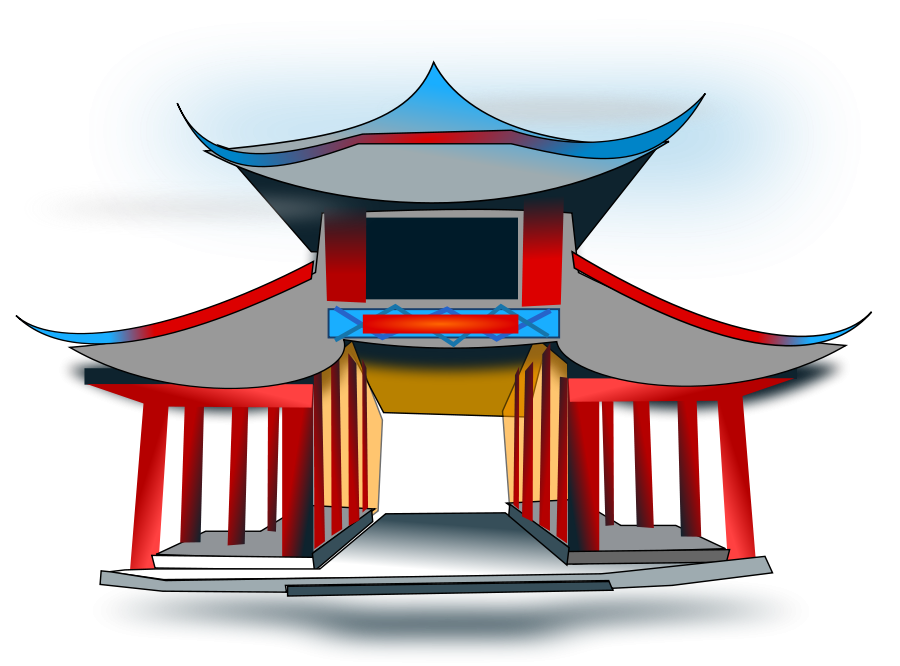 Pagoda clipart ancient china Art clip chinese #39960 art