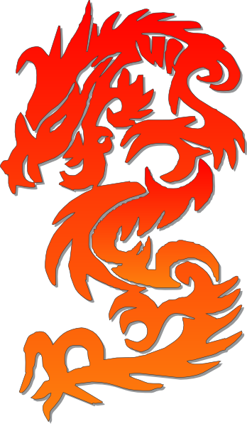 Chinese Dragon clipart symbol This image com as: clip