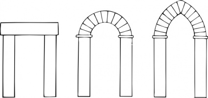Open Door clipart arch Archway Clipart door Types collection
