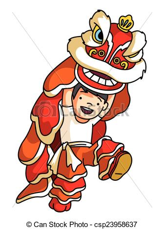Asians clipart family member Dragon of dance Vectors Chinese