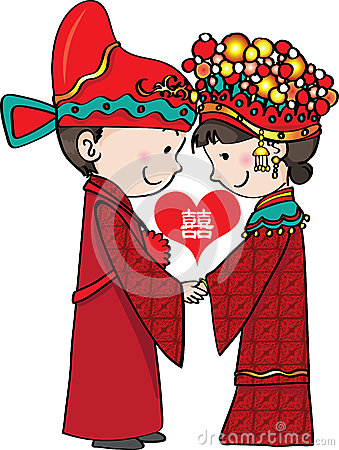 Chinese clipart bride and groom Traditional (62+) Clipart chinese Wedding