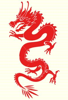 China Town clipart traffic jam Dragon  red ancient Cute