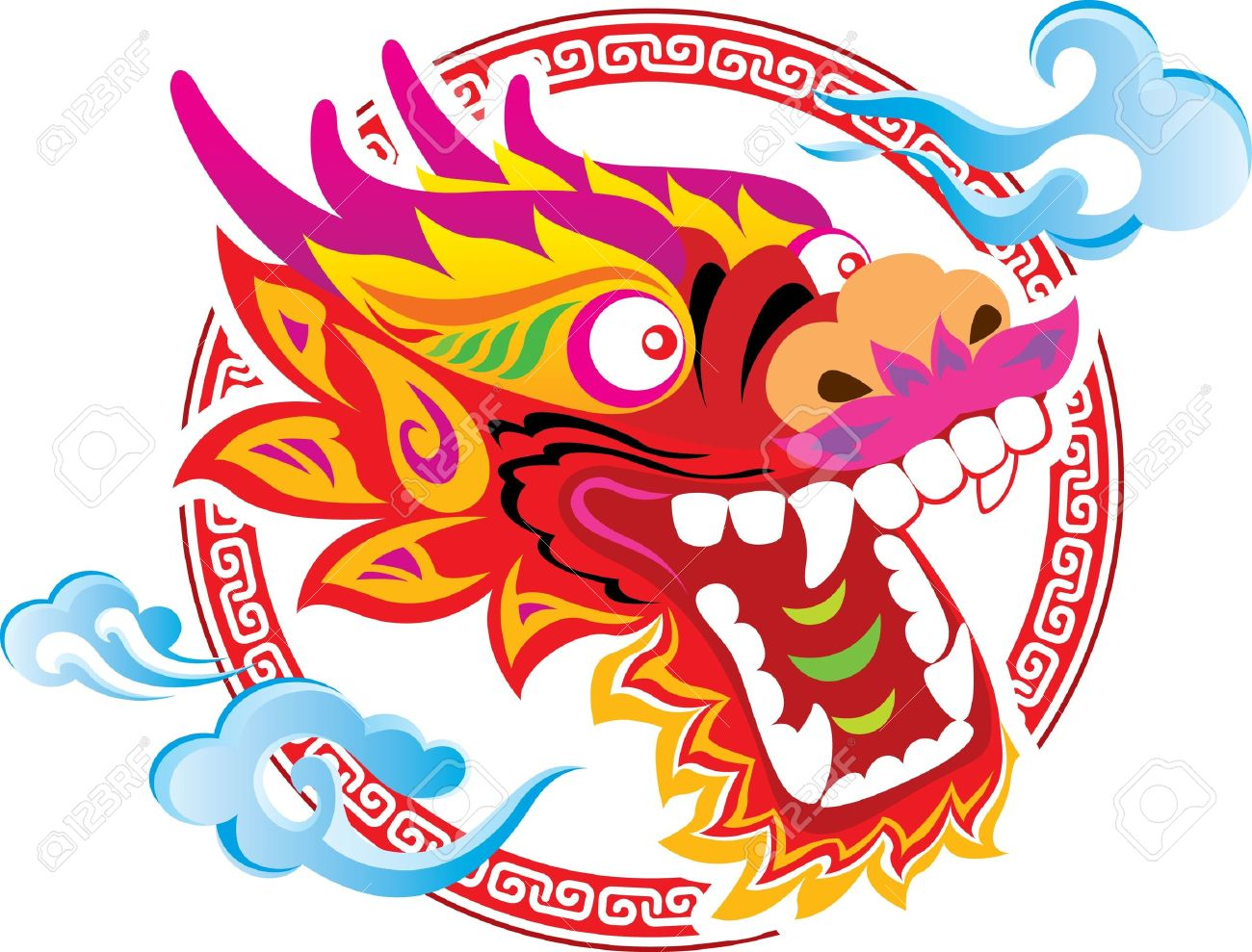 Costume clipart chinese dragon #3