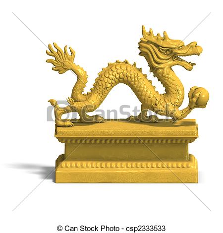 China clipart golden dragon With of dragon golden a