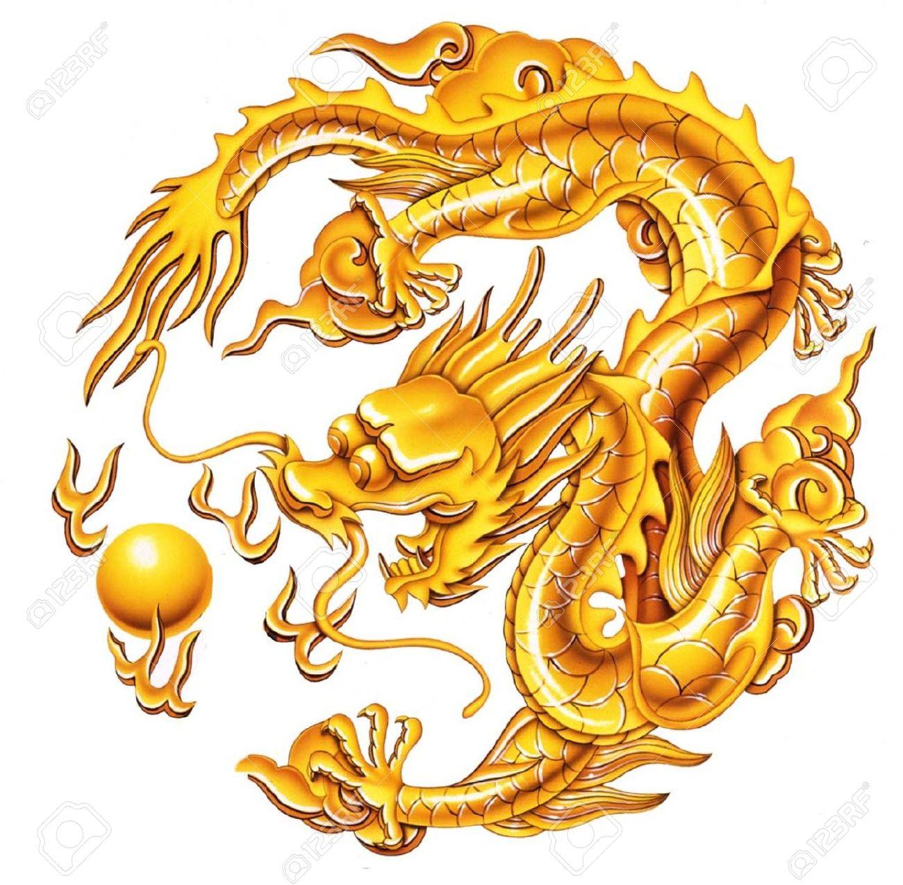 China clipart golden dragon Tattoo Google Pinterest sailor golden
