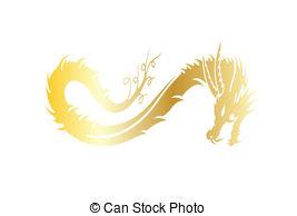 China clipart golden dragon Vector Golden EPS Clipart dragon