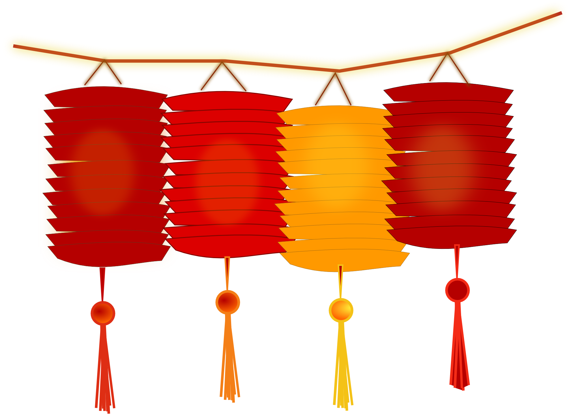 Latern clipart chinese new year decoration #1