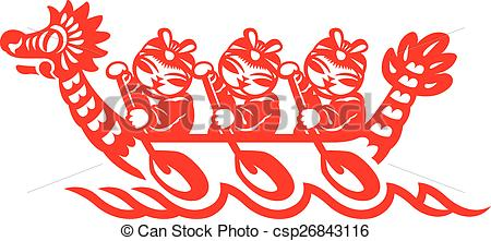 Boat clipart chinese dragon Cut Chinese boat boat race