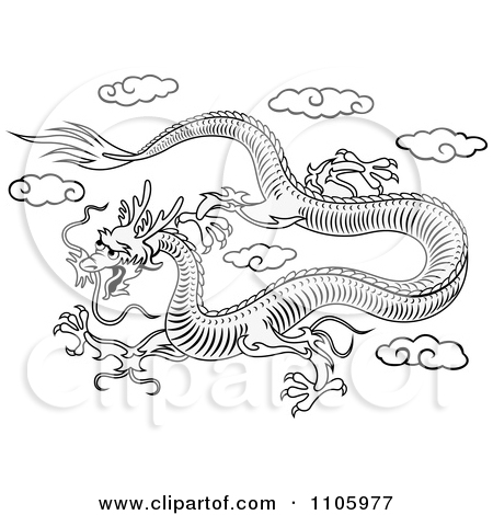 Chinese Dragon clipart color Clipart 62 Fans dragon #80