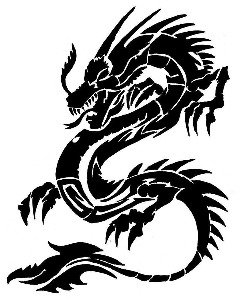 Chinese Dragon clipart easy Deadwoodman on Dragon Art Clipart
