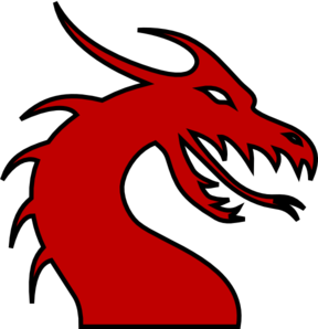 Chinese Dragon clipart easy Head Growling Red Dragon Collection