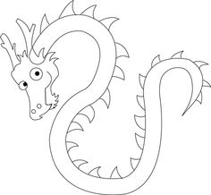 Chinese Dragon clipart easy Chinese Dragons to to with