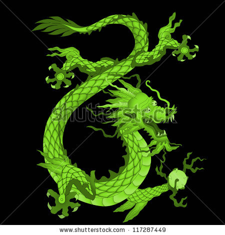 Chinese Dragon clipart medieval dragon Chinese Royalty Green Stock clipart