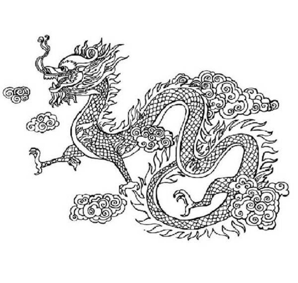 Chinese Dragon clipart printable Europe guides Colour Chinese :