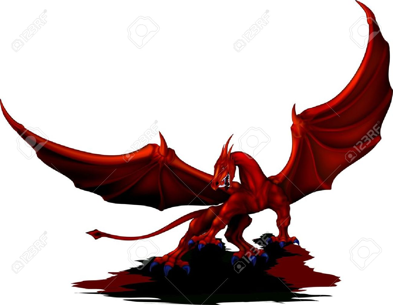 Chinese Dragon clipart wing  dragon clipart Demon