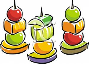 Classics clipart appetizer · Food skewers on Art