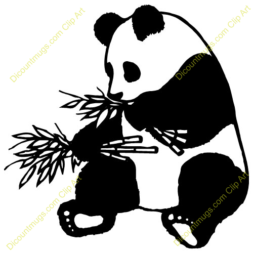 Panda clipart black and white Clipart Panda Baby China%20Clip%20Art Panda
