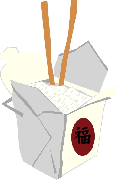 Chinese Food clipart box drawing  clip in Chinese Open