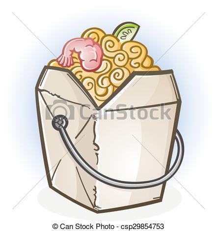 Chinese Food clipart box drawing Of Chinese Box csp29854753 Cartoon