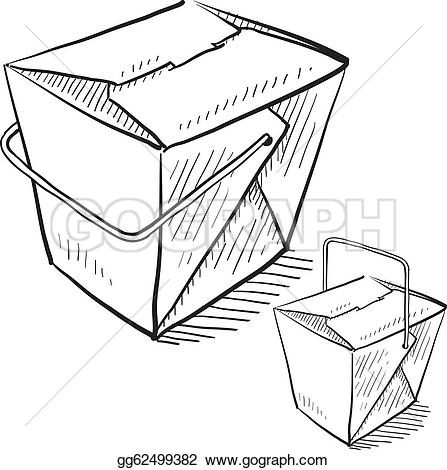 Chinese Food clipart box drawing Vector Chinese Clipart Illustration sketch
