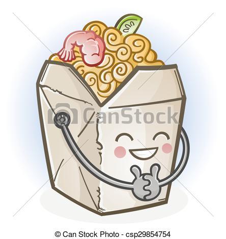 Chinese Food clipart box drawing  Chinese Box csp29854754 Cartoon
