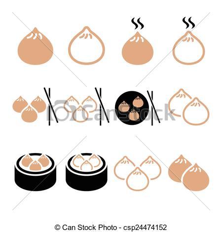 Dumpling clipart chinese dumpling Dumplings in food Asian Vector