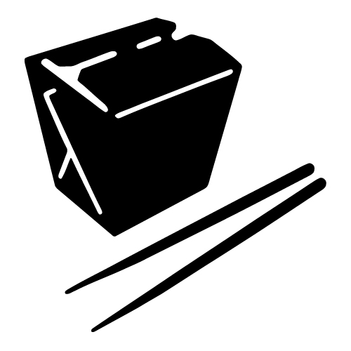 Box clipart out Art chinese food collection clip
