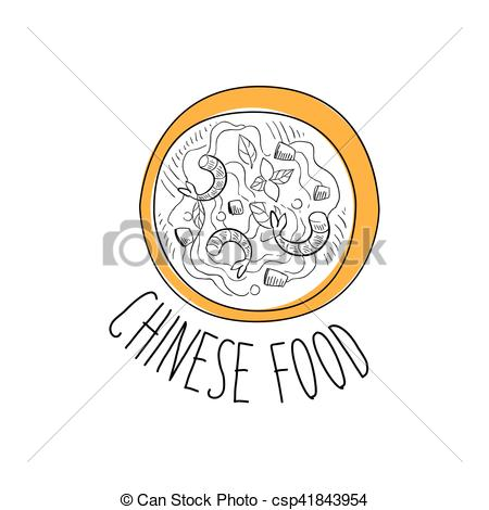Seafood clipart mediterranean Illustration Chinese With Seafood Food