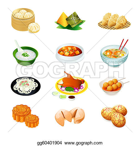 Noodle clipart china food Food Clipart Illustration of icons