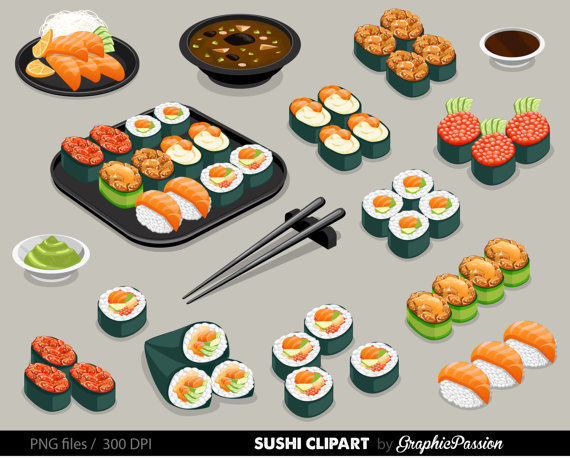 Sushi clipart vector Sushi from Food Clipart art