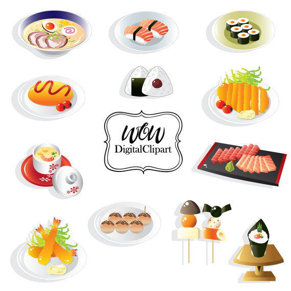 Chinese Food clipart japanese food Clipart Clip Sushi Art Sushi