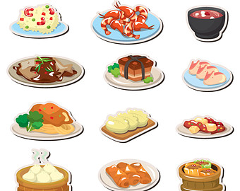Chinese Food clipart japanese food Clipart web file digital food