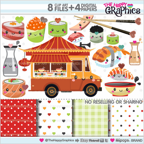 Sushi clipart china food Graphics Clipart Clipart Food COMMERCIAL