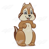 Chipmunk clipart Clipart Chipmunk forward facing Savoronmorehead